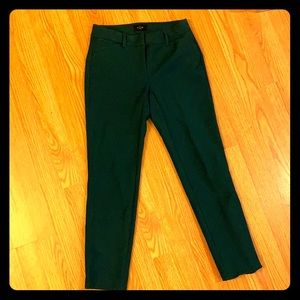 NWOT White House Black Market Green Ankle Pant